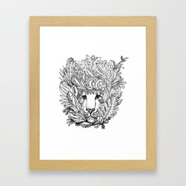 KIND LION Framed Art Print