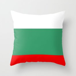 flag of bulgaria 2 -bulgarian, България,български,slav,cyrillic,Sofia,bulgaria Throw Pillow
