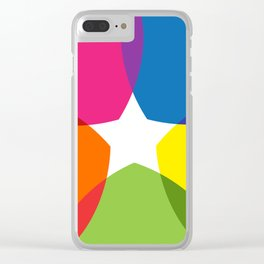 White Star Clear iPhone Case
