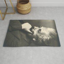 Albert Einstein rare photo Rug