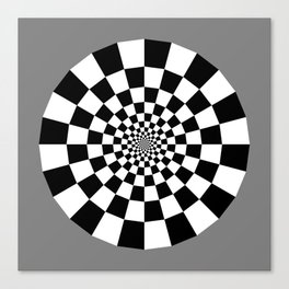 Checker Tunnel Canvas Print