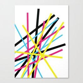 CMYK: Sticks Canvas Print