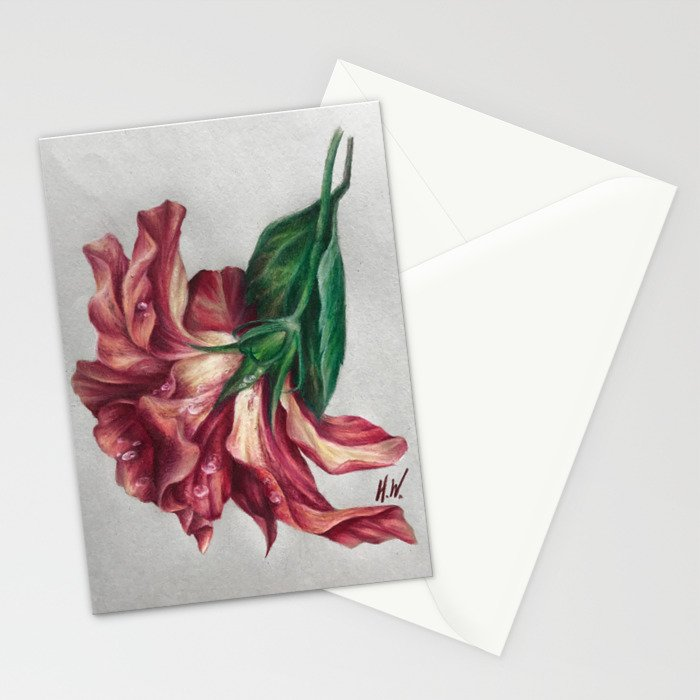 """""""Hibiscus"""" Drawing Stationery Cards"""