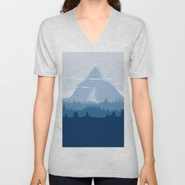 Blue Mountainside Unisex V-Neck