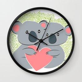 Koala innamorati Wall Clock