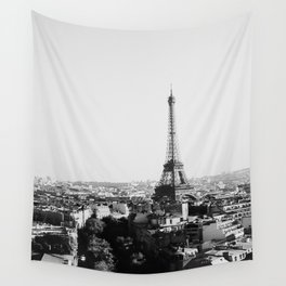 Paris City Sky // Eiffel Tower City Landscape Photography Shot from the top of Champs Elysees France Wall Tapestry