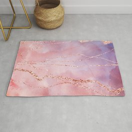 Blush and Purple Sky with Rose gold flashes Rug
