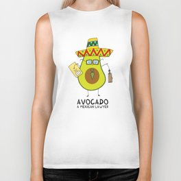 Avocado - A mexican lawyer Biker Tank
