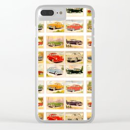 Vintage Rides Clear iPhone Case