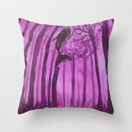 Moby´s Forest - Purple Throw Pillow