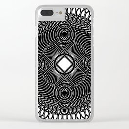 Four Corners of the Globe Clear iPhone Case