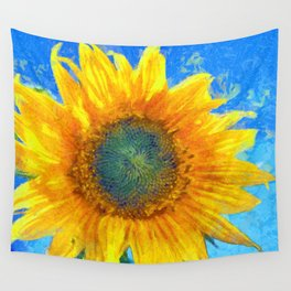 Happy Sunflower Wall Tapestry