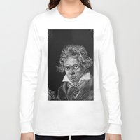 beethoven Long Sleeve T-shirts featuring Beethoven by Sean Villegas