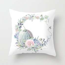 Autumn Wreath Throw Pillow