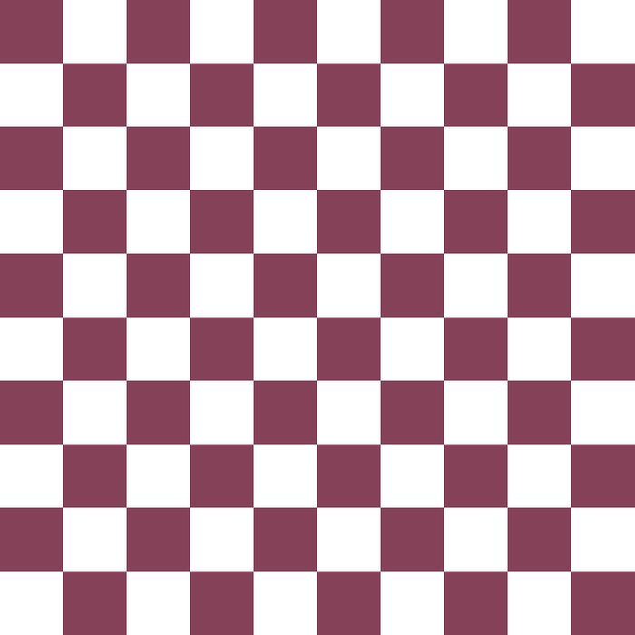 Purple, Mulberry: Checkered Pattern Duvet Cover