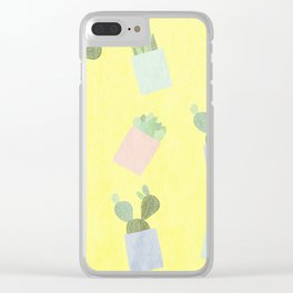 Succulents 2 Clear iPhone Case