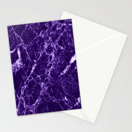 Purple Marble Stationery Cards
