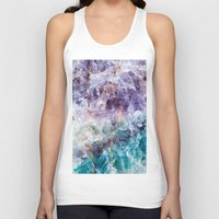 crystals Tank Tops featuring crystals  by lokyic