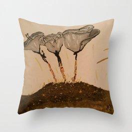 Human Being Origin Throw Pillow