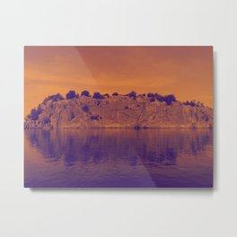 Lake Superior Rock Island Red Purple [Jordan E. Eismont] Metal Print