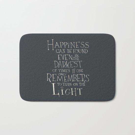 "Harry Potter - Albus Dumbledore quote ""Happiness"" Bath Mat"