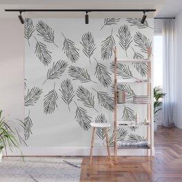 Black leaves Wall Mural