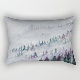 Forest in Mist Rectangular Pillow