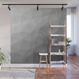 LOWPOLY BLACK AND WHITE Wall Mural