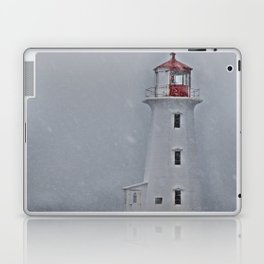 Peggy's Point Lighthouse Snowstorm Laptop & iPad Skin
