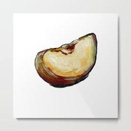 apple slice Metal Print