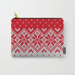 Winter knitted pattern 10 Carry-All Pouch