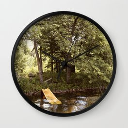Country Water Park Wall Clock