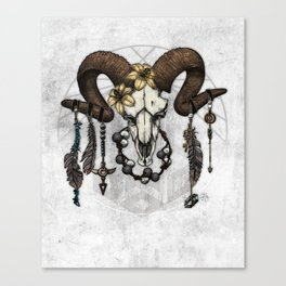 Bestial Crowns: The Ram Canvas Print
