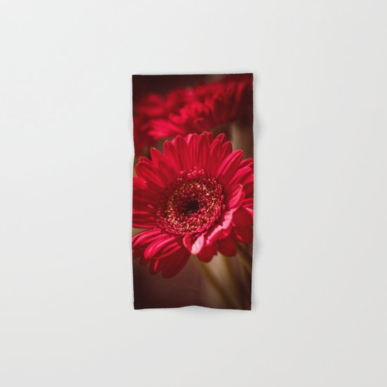 Beautiful Red Gerbera Hand & Bath Towel