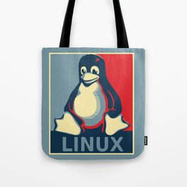 Linux Tux classic Obama poster Tote Bag