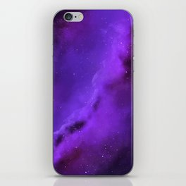 Purple Galaxy iPhone Skin