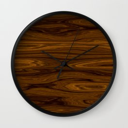 Wood Brown Wall Clock