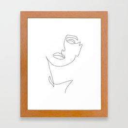 Triple Face Line Framed Art Print
