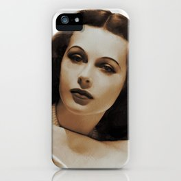 Hedy Lamarr, Hollywood Legends iPhone Case