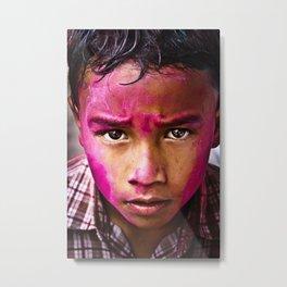 Holi Festival of Colour Metal Print