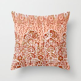 paisley floral in earth Throw Pillow