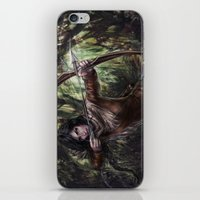 katniss iPhone & iPod Skins featuring Katniss by jasric