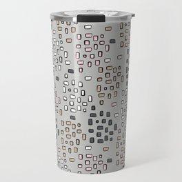 Rectangle Square Doodle Vector Pattern Seamless Travel Mug