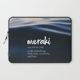 Meraki Word Nerd Definition - Purple Watercolor Laptop Sleeve