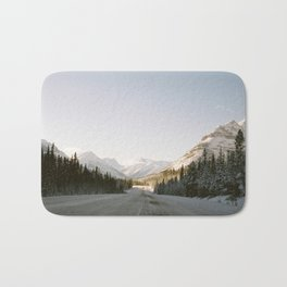 Roadtripping in the Canadian Rockies Bath Mat