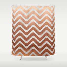 Copper and Paper Shower Curtain