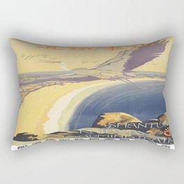 Vintage poster - Shantung Railway Rectangular Pillow