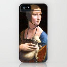 Leonardo da Vinci Lady with an Ermine iPhone Case