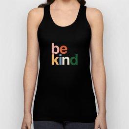 be kind colors rainbow Unisex Tank Top