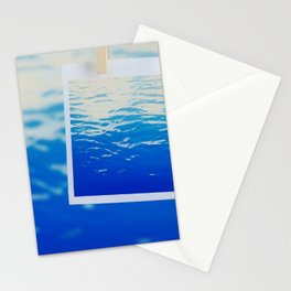 Neon Ocean Abstract Snapshot Stationery Cards